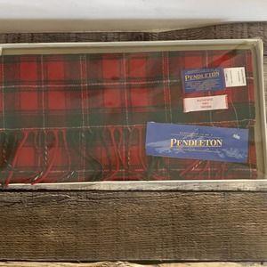 Vintage Pendleton 100% Virgin Wool Tartan Scarf
